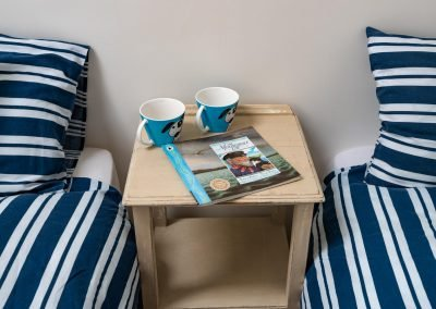 Twin bedroom bedside table